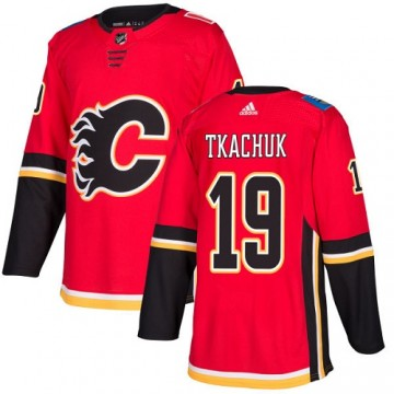 Authentic Adidas Youth Matthew Tkachuk Calgary Flames Home Jersey - Red